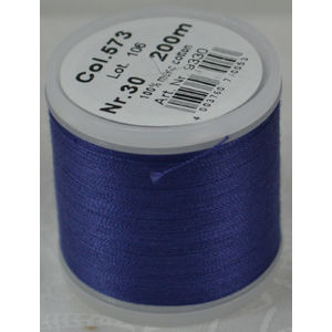 Madeira Cotona 30, 200m Embroidery & Quilting Thread Colour 573 Dusty Navy
