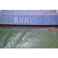 Madeira Avalon Wash Away Stabiliser (Solvy), 50cm x 100cm Transparent Stabiliser