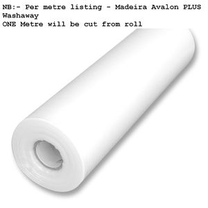 Madeira Avalon Plus Washaway Embroidery Stabilizer 50cm Wide Per Metre