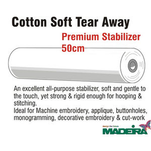 Madeira Cotton Soft Embroidery Stabiliser 50cm Wide Per Metre Non-Woven Tear Away
