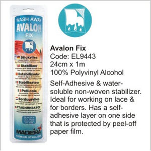 Madeira Avalon Fix Washaway Stabilizer 24cm x 1m Roll, Ideal For Lace