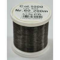 Madeira Monofil #60, 200m Sewing And Quilting Thread, Smoke (Transparent Black)