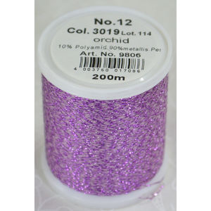 Madeira Glamour 12 Metallic Embroidery Thread, 200m ORCHID 3019