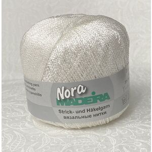 Madeira Metalized Nora Knitting & Crochet Yarn, 100m Colour 301 White