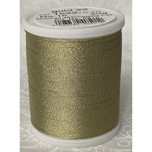Madeira Metallic No.15 Hand Embroidery Thread, 300m Spool, Colour GOLD 22