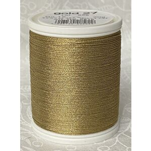 Madeira Metallic No.15 Hand Embroidery Thread, 300m Spool, Colour Gold 27