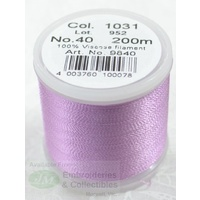 Madeira Rayon 40 Machine Embroidery Thread 200m Colour 1031 MEDIUM ORCHID