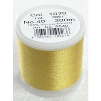 Madeira Rayon 40 Machine Embroidery Thread 200m #1070 GOLD
