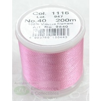 Madeira Rayon 40 Machine Embroidery Thread 200m # 1116 CANDY PINK
