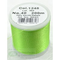 Madeira Rayon 40 Machine Embroidery Thread 200m # LIME GREEN