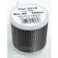 Madeira Rayon 40 Embroidery Thread, 200M MELANGE # 2219 BLACK GREY