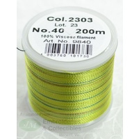 Madeira Rayon 40 Embroidery Thread, 200M POTPOURRI # 2303 LIME GREEN