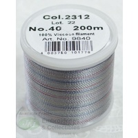 Madeira Rayon 40 Embroidery Thread, 200M POTPOURRI # 2312 GREY