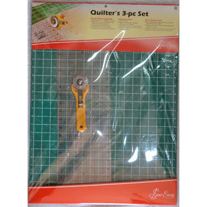 "Quilters Set A2 Double Sided Cutting Mat Rotary Cutter, 24""x6.5"" Patchwork Ruler"