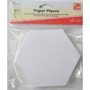 "Sew Easy Paper Hexagon Pieces 2.5"", Packet of 100"