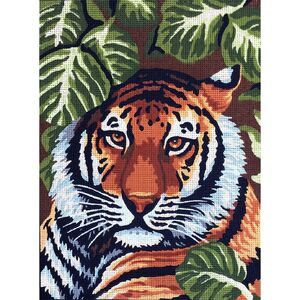 TIGER Tapestry Design Printed On 10 Count Canvas G40.138