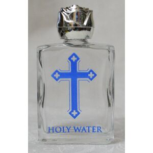 Holy Water Bottle, Cross, 35 x 65mm Glass, Empty (no water)