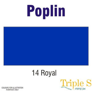 Polycotton Poplin Fabric, 112cm Wide Per Metre, Colour: ROYAL BLUE
