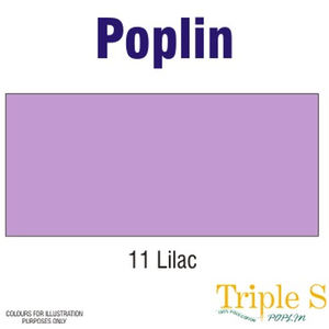 Polycotton Poplin Fabric, 112cm Wide Per Metre, Colour: LILAC