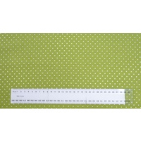 Cotton Fabric Per Metre, 110cm Wide, Small Pin Spot GREEN GL6918.03