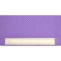 Cotton Fabric Per Metre, 110cm Wide, Small Pin Spot Purple GL6918.10
