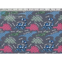 Dino-Mite Multi Grey, 137cm Wide Per Metre