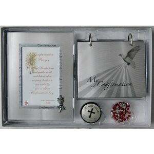 Confirmation Gift Set, GSF1643, Photo Frame, Flip Album, Rosary Box & Rosary