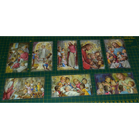 Brethren Series Laminated Holy Cards, Set Of 8 Cards, 1 Of Each Design, 105 x 65mm