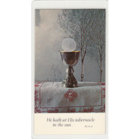 Father Series, Laminated Holy Picture Card, Set His Tabernacle, 105 x 60mm