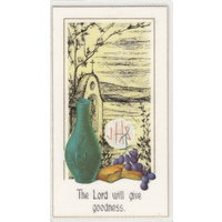 Shrine Series, Laminated Holy Picture Card, Lord Will Give Goodness, 110 x 60mm