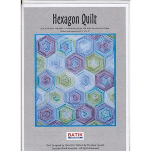 Batik Australia Quilt Pattern, HEXAGON, (Pattern / instructions only, no fabric)
