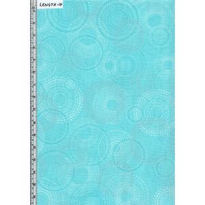 Shimmer & Shine, Shimmery Spirals Turquoise, 110cm Wide