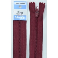 Vizzy Dress Zip, 15cm Colour 108 BURGUNDY