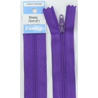 Vizzy Dress Zip, 15cm Colour 109 PURPLE
