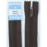 Vizzy Dress Zip, 15cm Colour 14 BROWN