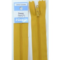 Vizzy Dress Zip, 18cm Colour 113 GOLD, A Quality Brand Name Zipper