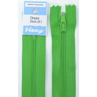 Vizzy Dress Zip, 20cm Colour 111 GRASS GREEN