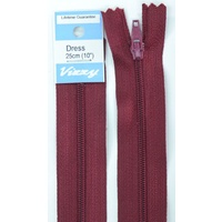 Vizzy Dress Zip, 25cm Colour 108 BURGUNDY