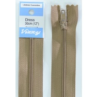 Vizzy Dress Zip, 30cm Colour 10 CAMEL, A Quality Brand Name Zipper
