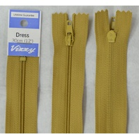 Vizzy Dress Zip, 30cm Colour 18 MUSTARD, A Quality Brand Name Zipper
