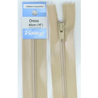 Vizzy Dress Zip, 40cm Colour 07 NATURAL, A Quality Brand Name Zipper