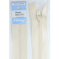 Vizzy Dress Zip, 45cm Colour 03 LINEN, A Quality Brand Name Zipper
