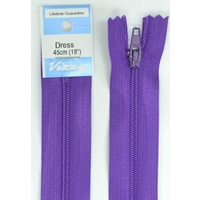 Vizzy Dress Zip, 45cm Colour 109 PURPLE, A Quality Brand Name Zipper