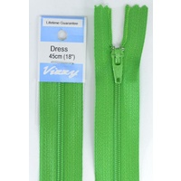 Vizzy Dress Zip, 45cm Colour 111 GRASS GREEN, A Quality Brand Name Zipper