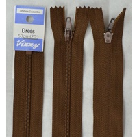Vizzy Dress Zip, 50cm Colour 13 CHOCOLATE