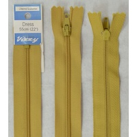 Vizzy Dress Zip, 55cm Colour 18 MUSTARD, A Quality Brand Name Zipper