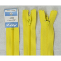 Vizzy Dress Zip, 55cm Colour 20 YELLOW, A Quality Brand Name Zipper