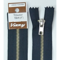 Vizzy Trouser Zip 10cm FRENCH NAVY, A Quality Brand Name Zipper