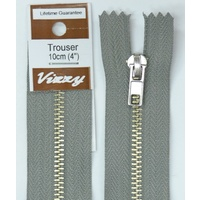 Vizzy Trouser Zip 10cm PEARL GREY, A Quality Brand Name Zipper
