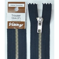 Vizzy Trouser Zip 12cm FRENCH NAVY, A Quality Brand Name Zipper